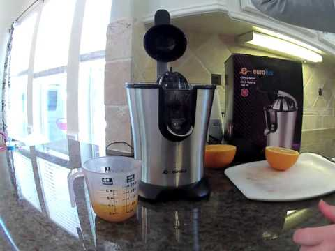 Eurolux Easy to Use Stainless steel Motorized Citrus Juicer Review, Super simple to use and clean