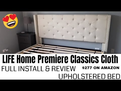 LIFE Home Premiere Upholstered Platform Bed | FULL INSTALL | REVIEW