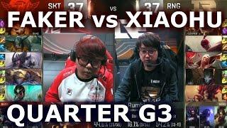 SKT vs RNG G3 - FAKER vs XIAOHU Player Experience (w/ Alex Ich) | Quarter Finals LoL S6 Worlds