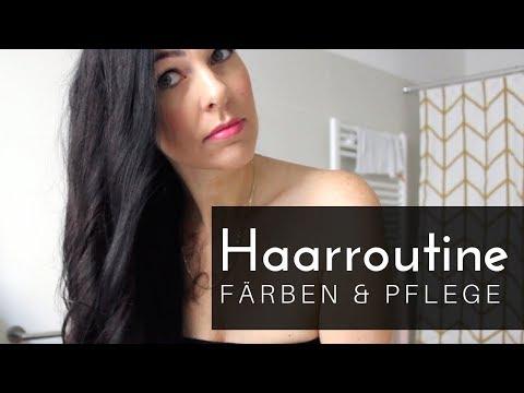 HAARROUTINE bei gefärbtem Haar (Pflege und Färben)