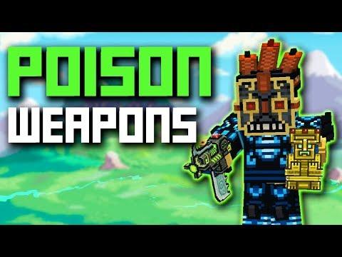 POISON WEAPONS SET IN Pixel Gun