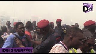 Affrontement entre policier et commerçants sur l'incendie de PETERSEN