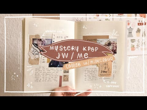 mystery kpop journal with me — collab with @milkcloud