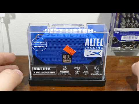 altec lansing mini h2o bluetooth speaker review