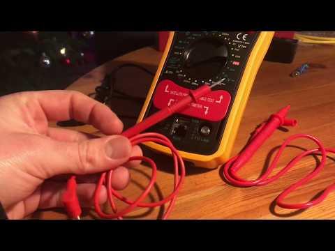 Kupfer Leitung Kabel auf Durchgang testen Durchgangsprüfung mit Revolt Digital Multimeter Anleitung