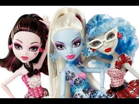 Monster High - Dot Dead Gorgeous Pack Draculaura, Abbey & Ghoulia Review (en Français)