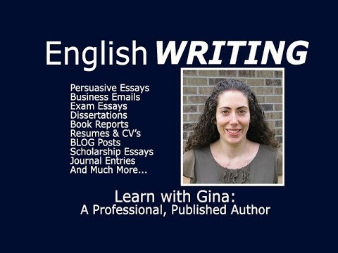 Improve YOUR writing with Gina!