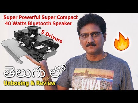 Powerful 40W Bluetooth Speaker with BASS Woofer Review in Telugu…