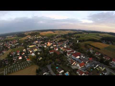 Blade 350 QX2 Drohne (Bruckberg 6 Uhr morgens von Oben)