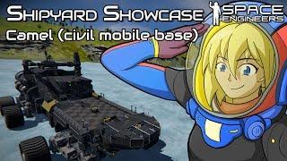 It Drives Like A Dream | Camel (civil Mobile Base) | Space Engineers Shipyard Showcase