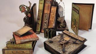 How To Make Tiny Paper Mini Books Featuring G45 Rare Oddities