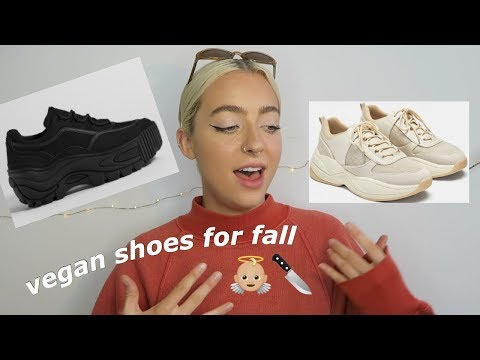 omfg cute vegan shoes for fall//back to school🦋👼🏼🔪