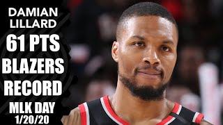 Damian Lillard erupts for 61 points to set MLK Day, Blazers record | 2019-20 NBA Highlights