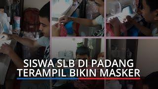 Siswa SLB di Padang Terampil Bikin Masker, Guru Ajari Lewat Rekaman Video Selama PJJ
