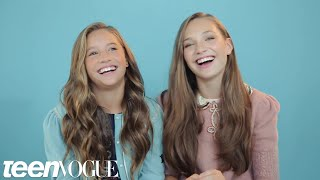 Maddie And Mackenzie Ziegler Share The Sweetest Sister Moment Youve Ever Seen | Teen Vogue
