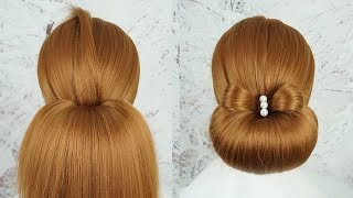 New Bun Hairstyle For Wedding Function 2019 -  Quick Hairstyles | Simple Hairstyle For Party