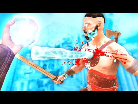TERRIFYING NEW AND DEADLY ICE SPELL in Blades and Sorcery VR Mods