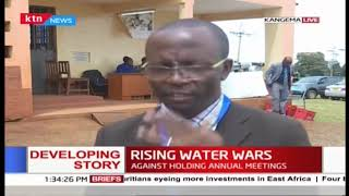 Kahuti water compay has defied order by Govenor Wa Iria' call to agaist holding their annual meeting