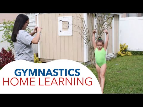 """Solution for """"Social Distance"""":  Gymnastics Home Learning!"""