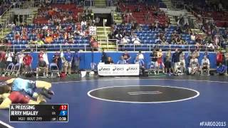 120 Champ. Round 2 - Jerry Mealey (Oregon) vs. Alexander Preissing (Illinois)
