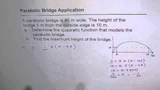 IMPORTANT Model Parabolic Bridge as Quadratic Equation
