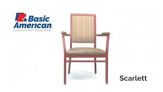 Basic American Scarlett Stack Arm Chair Youtube Video Link