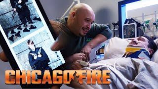 "When Otis is injured by stray bullets during a fire he is taken to Chicago Med with the risk of never being able to walk again. The house owner responsible gets away with no charges but wrestles with the damage  Season 6 Episode 15 ""A Chance To Forgive"" Firehouse 51 responds to a call of a residential fire, but things take a dramatic turn when gunshots are fired in the home and Otis is severely injured. The gunfire turns out to come not from a shooter but from the ignited cache of ammunition the family's teen son owns. Brett discovers her true feelings for Antonio Dawson but is disappointed when she finds out that he had been set up on a blind date. Also, Casey pushes Severide into showing his true feelings for Kidd. After the mother in the house fire dies, tragedy comes to the teen after criminal charges against him are dropped.  Watch full episodes Of Chicago Fire on Google Play: http://bit.ly/1uqXEco Watch full episodes Of Chicago Fire on Itunes: http://apple.co/2ylwwFM Don't forget to subscribe: http://bit.ly/2yJ9YQf]"