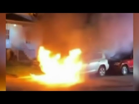 Investigation launched after vehicle catches fire in Dearborn