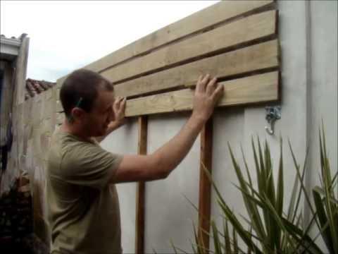 Deck de madeira em paredes