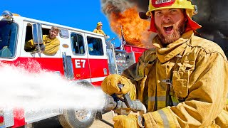 REAL Firefighter Challenged us to Firefighter Training!