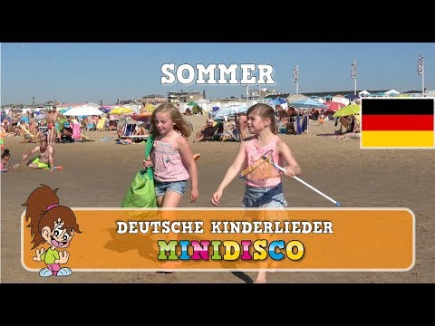 Sommer | Deutsche Kinderlieder | AM STRAND | Kindergarten Songs | Minidisco