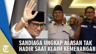 Empat Kali Tak Hadir pada Deklarasi Klaim Kemenangan Prabowo, Sandiaga Uno Beberkan Alasannya