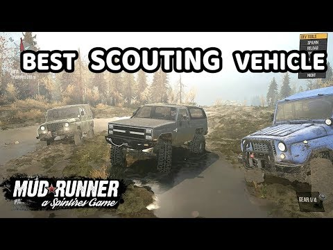 Spintires Mudrunner: Best Scouting Vehicle | Chevy K5 Blazer Vs Competition.