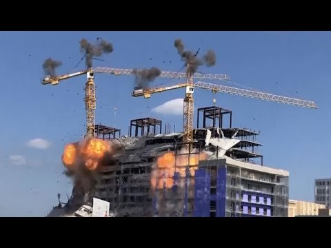 ✅  New Orleans: Blasts demolish cranes as search for bodies begins in collapsed hotel