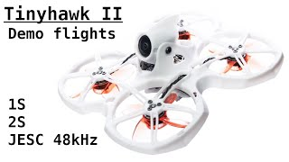 EMAX Tinyhawk 2: Demo flights on 1S, 2S and JESC (48kHz & RPM Filter)