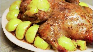 Утка запеченная с яблоками. Блюдо для праздника. Рецепт от Всегда Вкусно.