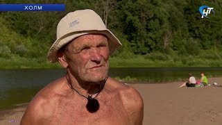 79-летний пловец открыл сверхмарафон по Ловати