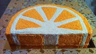 Торт Апельсиновая Долька(Ооочень Вкусно)/Апельсиновый Торт/Orange Cake/Пошаговый Рецепт