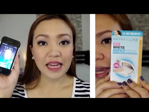 Maybelline White Superfresh Powder Foundation Review! | TAGALOG