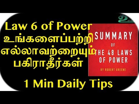 Law 6 of 48 Laws of Power | 1 Minute Daily Tips | Dr V S Jithendra