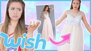 Trying On Cheap Prom Dresses I Bought From Wish!