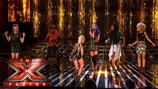 Alien Uncovered feel the Pressure in sing off | Week 1 Results | The X Factor 2015