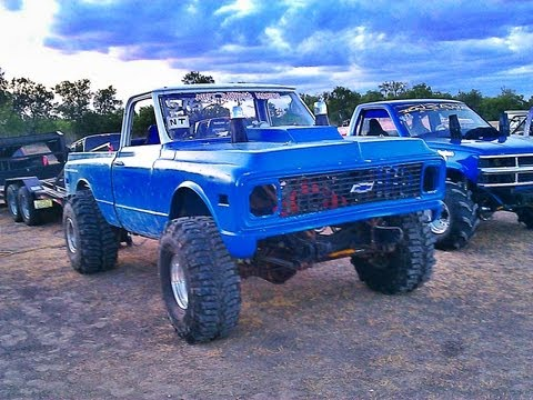 AINT DADDYS MONEY Old School 4X4 CHEVY PICKUP Mud Drag Truck.