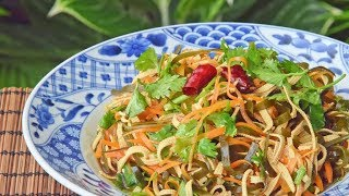 Three-Sliver Salad – Northern Chinese Liangban Sansi with Kelp Tofu and Carrot