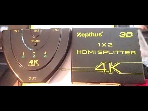 4K HDMI Splitter 1x2 & 4K ULTRA HD Selector