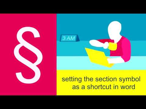 How to Set the Section Symbol as a Shortcut in Word
