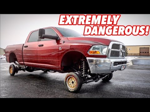 I PUT TINY CAR WHEELS ON MY LIFTED TRUCK!