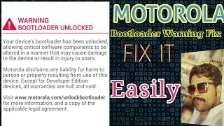 motorola bootloader unlocked warning remove - Kênh video