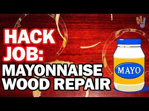 Mayonnaise Wood Repair? Hack Job #9