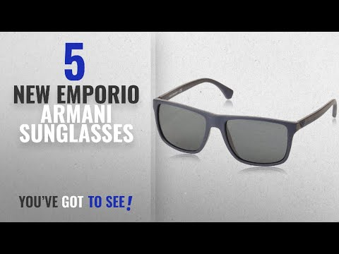 Top 10 Emporio Armani Sunglasses [ Winter 2018 ]: Emporio Armani EA 4033 5230/87 Square Sunglasses